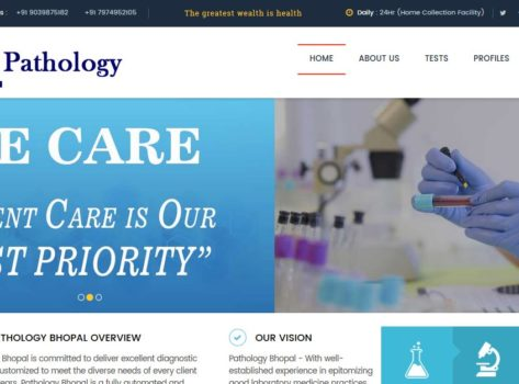 Pathology Website Design