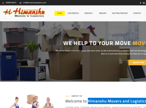Packers Movers Bhopal Website